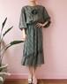 gray chiffon dress
