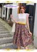 【お取り寄せ品】シンプルコーデに合わせて♪花柄ボリュームスカート