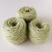 草木染め毛糸 薄いグリーン01 並太