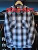 L/Sシャツ オンブレチェック ブラック