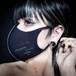 ✙数量限定✙「stop corona mask」blak× purple プリント有り