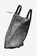 ハンドダイで染められた美しいグレーカラーのバッグ【Ytn №7】 Unisex Geometric Leather Backpack  076Y - Gray