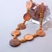 ヤシのロングネックレス(オレンジ)