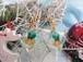 キラキラクリスマスベルを閉じ込めた聖夜のピアス(スクエア)