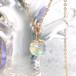 オーロラ液晶 虹の露 シンプルネックレス
