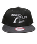 """Roro embroidered """"MUSIC LIFE"""" Snap Back (Limited Edition)"""