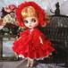 ロリータロマンス 美しき赤の誘惑 リボンフリルドレス