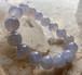 ブルーカルセドニー レディースブレスレット 女性用腕輪 内径15cm アクセサリー