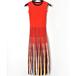 Multi-stripe sleeveless knit dress マルチ ストライプ ノースリーブ ニット ワンピース