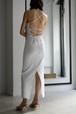 ERiKOKATORi / dry fries back cross dress (white)
