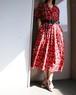 80's Open color flower dress