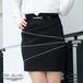 ラインストーンブレードタイトスカート※ベルト付き【PS9012S】