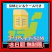 【プリペイドSIM】8日間無制限(SIMピン&ケース付き)