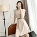 【dress】気質満点大人可愛い 着瘦せ切り替え高級感 シンプルデートワンピース3色