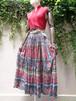 Indian cotton ethnic flower pattern  skirt インド綿 エスニック 花柄  スカート
