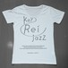 key Rei jazz T-shirts 半袖 白×黒ラメ