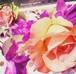 コサージュ&ヘアアクセサリーセット*薔薇つつじ