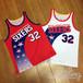 「NBA」フィラデルフィア シクサーズ 1991-94シーズン シューティングスターズ 復刻ジャージ チャールズバークレー ジェフホーナセック 手作り ユニフォーム
