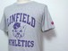 1990's LINFIELD COLLEGE 3段カレッジプリントTシャツ グレー 表記(S)