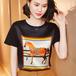 【tops】人気デザインカジュアル爽やかな印象Tシャツ2色気質満点大人可愛い