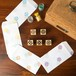 【5点セット】プチ丸型はんこ/和柄/麻の葉/青海波/市松/七宝/紗綾型