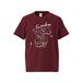 sumika / 地図Tシャツ(バーガンディー)