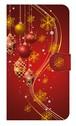 【鏡付き Mサイズ】Winter Holiday Gorgeous Red ウィンター・ホリデー ゴージャスレッド 手帳型スマホケース
