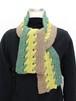 手編みの3色カノンマフラー