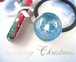 ホワイトクリスマスの風景を閉じ込めたスノードーム風ヘアゴム