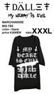 "big tee ""My HEART is EVIL""<XXXL>"
