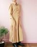 70's maxi shirt dress