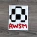 AWSMロゴ・ステッカー(ブラック/ホワイト)