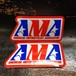 AMA Vintage Sticker Square 大(American Motorcycle Association)