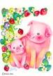 苺と豚の親子〔原画〕