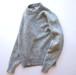 1970's USA製 [J.J.COCHRAN] ミックスカラー クルーネックニットセーター サックスブルー×オフホワイト 表記(M)