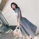 【dress】気質溢れる 高級感 シンプル無地優しい雰囲気着痩せデートワンピース M-0318
