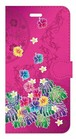 【iPhone6Plus/6sPlus】Tropical Pink トロピカル・ピンク 手帳型スマホケース