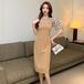 【dress】おしゃれ!ファッション切り替えデートワンピース2色着瘦せ大好評