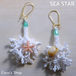 Coralreef motif Pierce -Sea Star White-