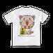 <白Tシャツ 背面>まねきみーちゃん