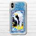#037-001 グリッターケース iPhoneケース キラキラ スマホケース かわいい 猫 ネコ 可愛い 雑貨 動物 ねこ iPhone6/6s/7/8 グリッタースマホケース(iPhoneシリーズのみ対応・Plus非対応) タイトル:猫天使 作:プルーミィグッズ