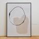 ポスター50cm×70cm /abstract white(フレーム付き)
