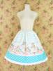 幸せを運ぶ子うさぎのフリルスカート ブルー