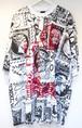 KTZ STAMP PRINT T-SHIRT スタンプ プリント Tシャツ / WHITE-BLACK 50%OFF
