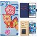 Jenny Desse Galaxy S6 edge plus ケース 手帳型 カバー スタンド機能 カードホルダー ブルー(ホワイトバック)