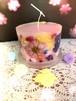 カラフルお花のフラワーキャンドル