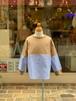 KIDS:FITH【フィス】ウォッシャブルストライプ切替L/S Tシャツ(ベージュ/130,140cm)