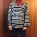 USED  LeRoy Knitwear ルロイニットウェア  襟付きセーター ロング丈  フェアアイル