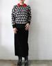 black velour tight skirt