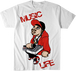 MUSIC LIFE T-Shirt Graffic Art (White)